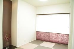 思い切った色使いの和室がチャームポイントです。