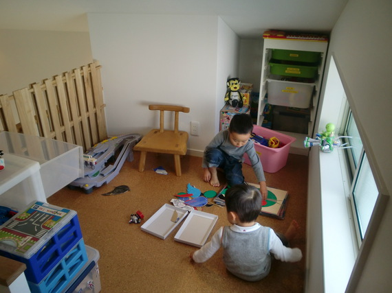 ロフトスペースは子供たちの秘密基地です。