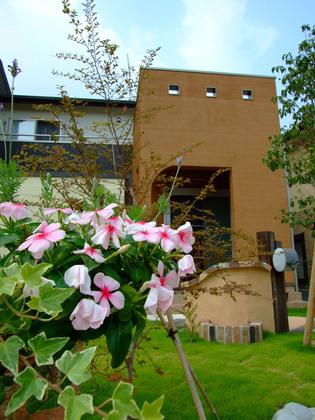 花々が出迎える美しいお庭
